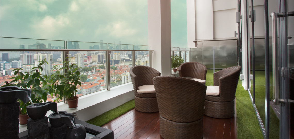 SWENG Plastic Surgery - Balcony - Best view on the top floor